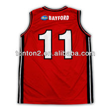 2013 hot selling custom sublimation basketball jersey