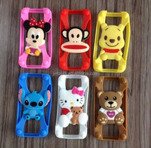 universal 3D free size silicone bumper case for mobile phone