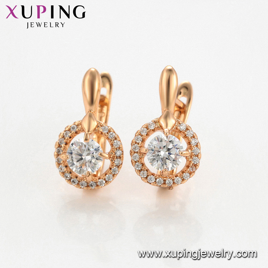 64953 Xuping cheap rose gold filled ring settings, wedding ring set