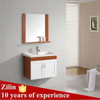 hanging PVC vanity oak wood free standing bathroom cabinet