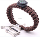 550 paracord survival bracelet with compass manufacturer