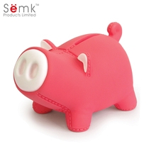 Wholesale cheap price custom plastic money safe box red pig piggy bank for kids