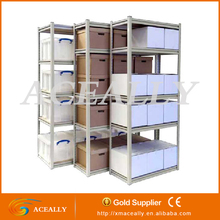 3/4/5/6/7 tiers steel frame stacking warehouse racks Industrial stockroom shelving systems