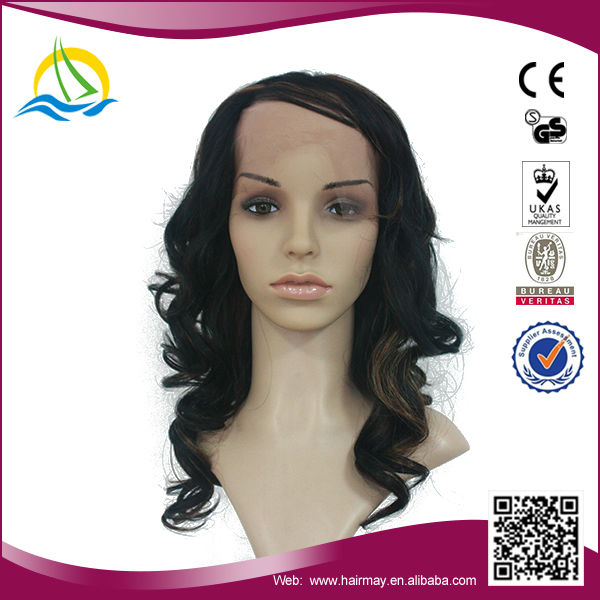 2014 New fashion style synthetic deep curl full lace wig