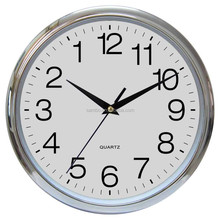 Plating Backwards Wall Clock with CE & RoHS