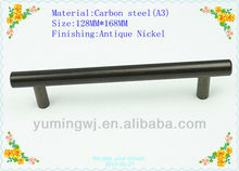 Popular antique solid T bar handle for costco wholesale/furniture handle stainless steel handle/128mm cyan color knob