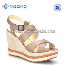 High end leather sandals women