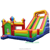 HI colorful inflatable children jumper house, outdoor bouncy castle with giant slide, pvc castle combo on sale