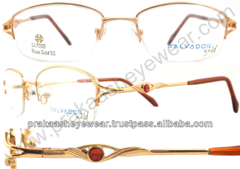 New half rim metal eyewear frame spectacles glasses