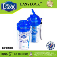 Easy lock with tea strainer plastic children water bottle 2014