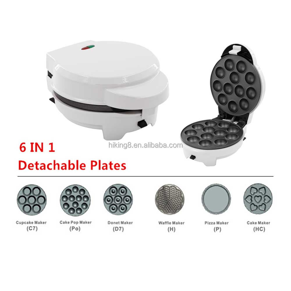 Electric automatic mini 3 in 1 cake pop cupcake donut waffle maker