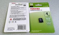 TOSHIBA 4GB MICRO SDHC / TF MEMORY CARD CLASS 4