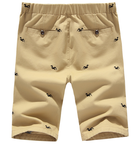2015 fashion hot sale high quality embroidery mens chino shorts