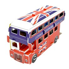 High quality newest design 3d puzzle, Double Decker Bus 3d puzzle for KID