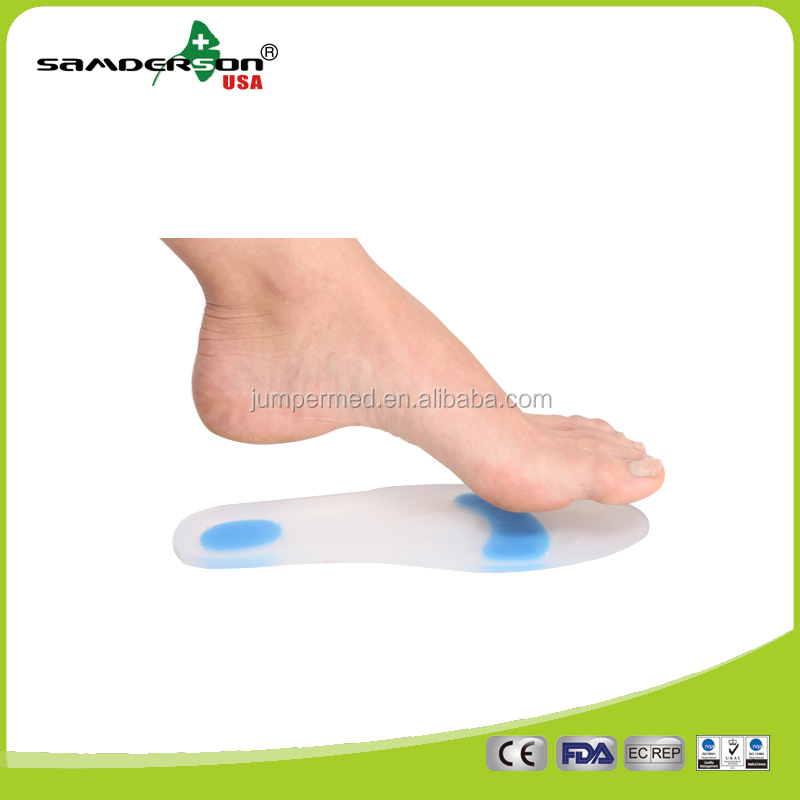 2017 Samderson T1FO-101 1Pair Full Length Support Medical Metatarsal Pad Silicone Gel Shoe Insoles