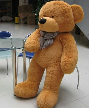 Free shipping 80CM big soft plush sleepy teddy bear