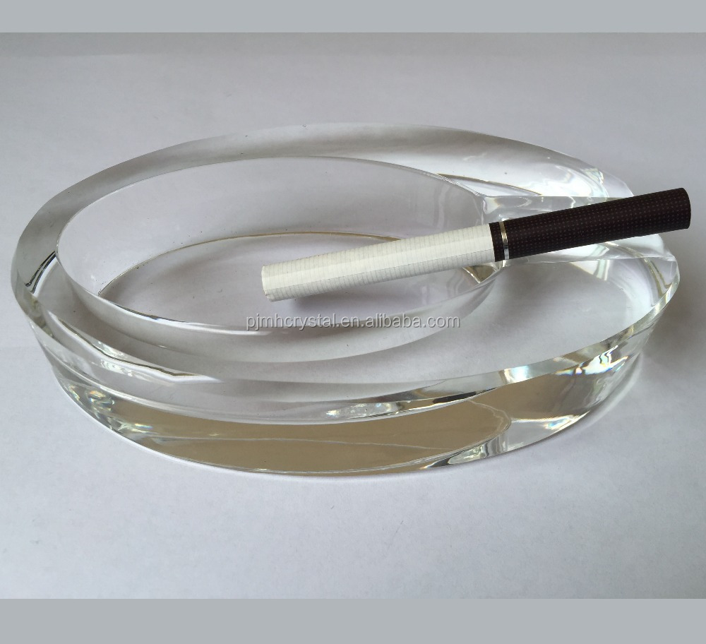 MH-YG0017 promotion unique high quality crystal glass cigarette ashtray