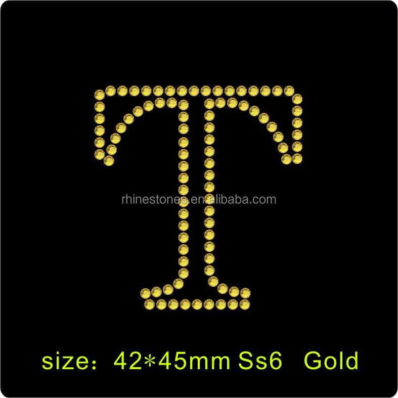 0930W custom hotfix rhinestone motifs design Factory price Custom Glitter letter symbol Iron On Rhinestone Transfer Motifs