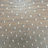 Off White Polka Dot Mesh Lace Fabric for Bridal Clothing Nylon Spandex lace fabric in rolls market in dubai