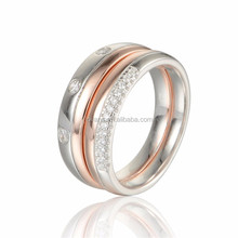 925 Sterling Silver German Expandable Wedding Bands Ring For Man