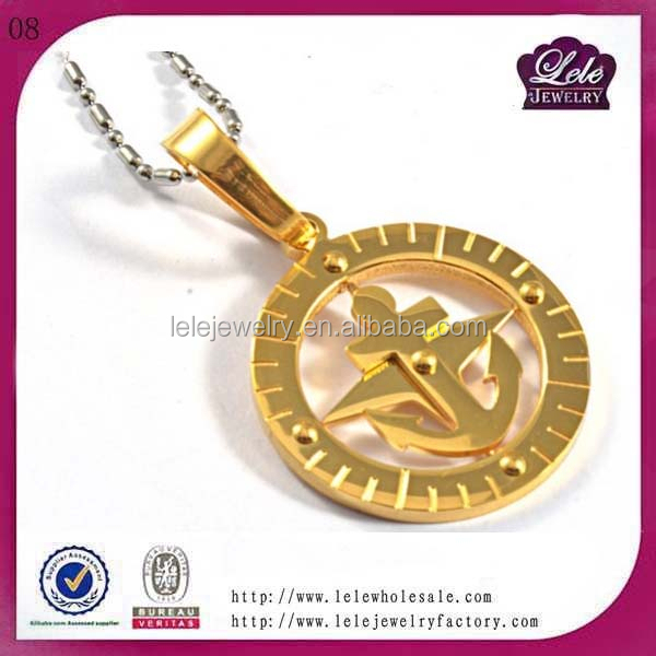 trendy items meaning custom logo printed jewelry factory gold quantum pendant stainless steel circle pendant