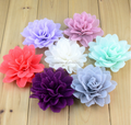 High Quality chiffon Lotus Artificial Flower , Craft Hair Decorative Flowers Wholesale hair accessories