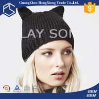 Newest europion popular animal ear knitted hat