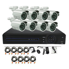 The best price 1.3MP 960P Night Vision Waterproof Camera 8CH AHD CCTV DVR Kit