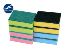 Combo Cellulose And Abrasive Cleaning Sponge