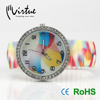 Cute silicon quartz wrist watch