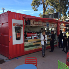Artistic portable 20ft shipping container coffee shop