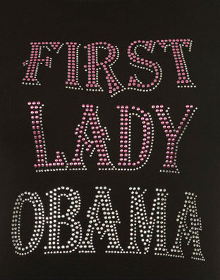 first lady obama transfer heat press for t-shirt design