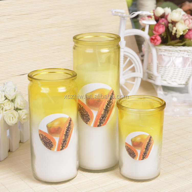 Factory Direct Sells Fragrance Candle with a set three pieces candle