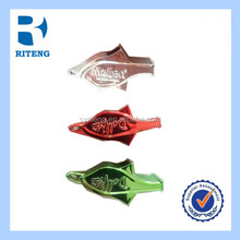 best selling plastic colorful dolphin shape basketball whistle