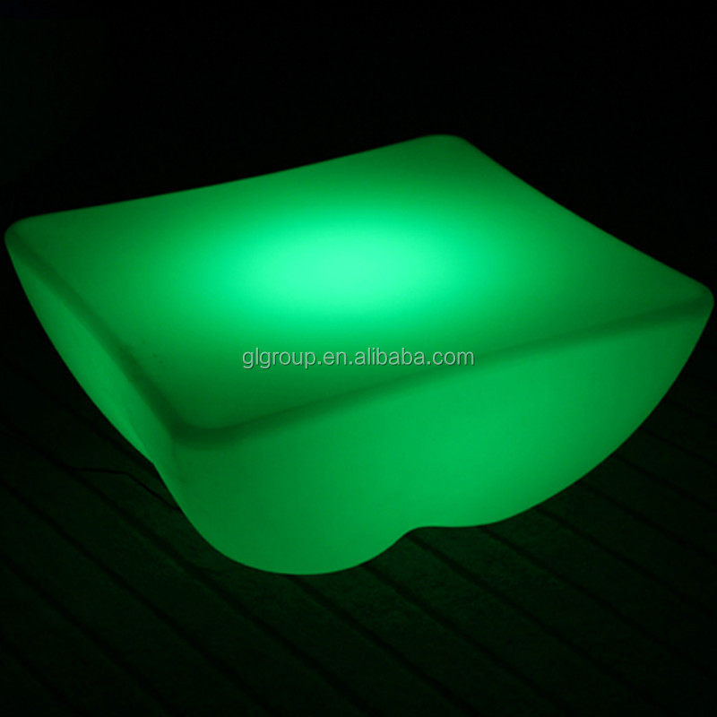 led bar table glowing single deck coffee table plastic living room tea table