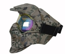 Durable digtal multi camo full face facial dust paintball airsoft safety mask shield for war game CL9-0027