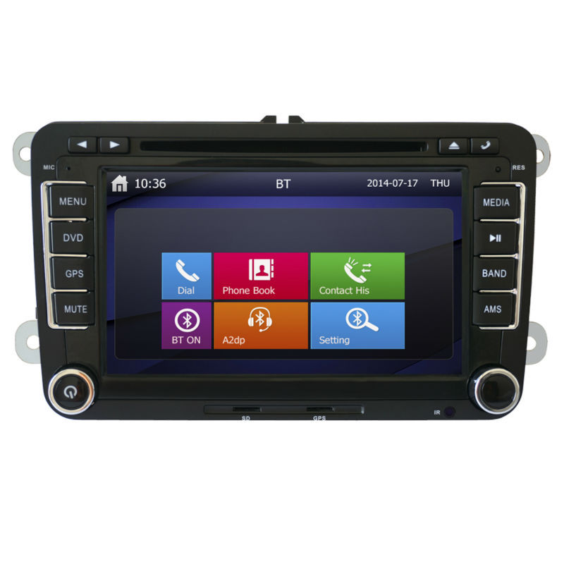 VW dvd car audio navigation system with 7ijnch Touch Screen Bluetooth STW