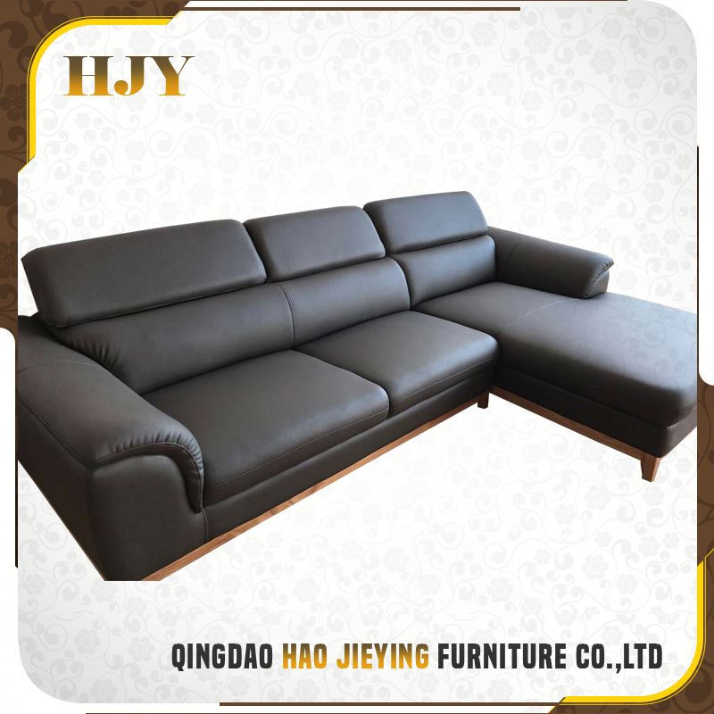 Fashionable Design Black Imported Modern Couch Living Room Leather Sofa