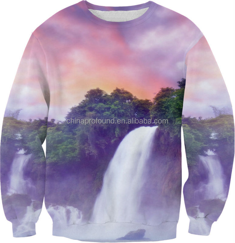 wholesale custom latest designs picture sweatshirts men sublimation printed 3d crewneck sweatshirt