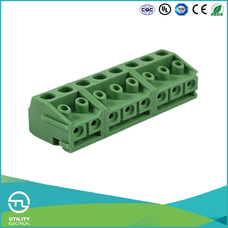 UTL Low Price Pitch 5mm Pcb Screw Terminal Blocks Connector Manufacturer Ceramic Pluggable Terminal Board