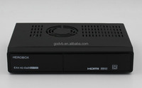 HEROBOX EX4 HD combo receiver dvb-s2 dvb-t2 europe cccam High CPU Dual Core Linux OS E2 Twin Cable Tuners