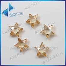 Attractive light champagne star with hole zircon loose stone