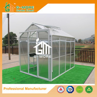 G-MORE Imperial Series Single Door, 6'x8', Optional PC/Glass Glazing, Freely Extended Easy DIY Grow house/Hothouse (GM34304-W)