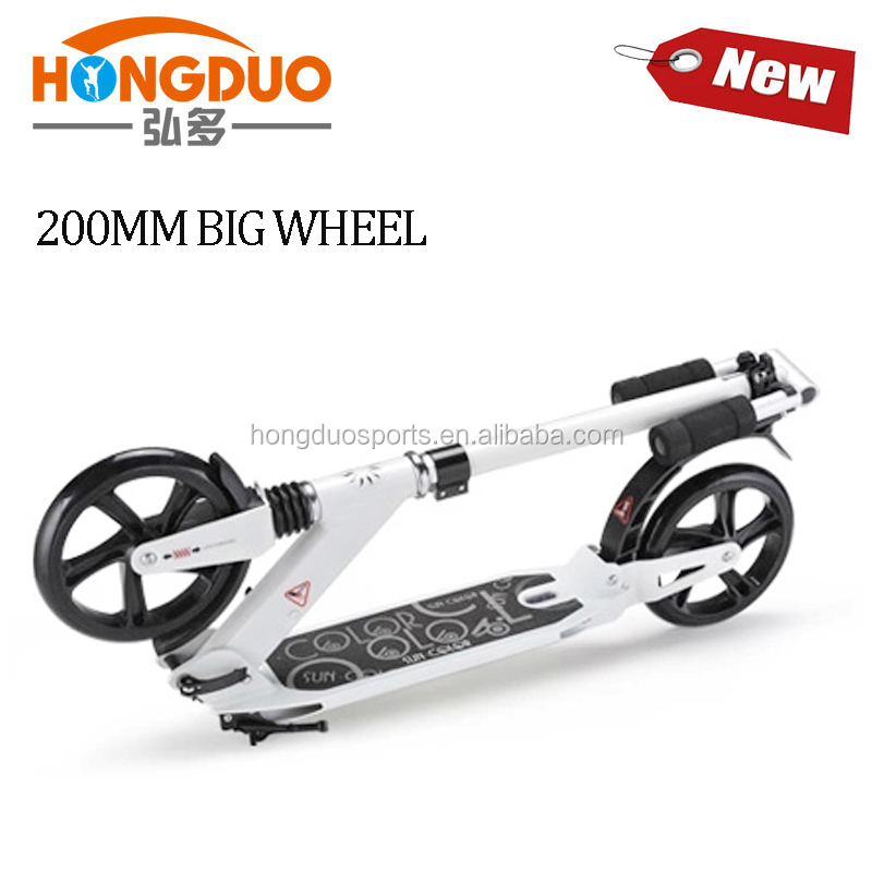 200mm big wheel adult kick scooter