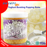 Taiwan Hot Topping Yoghurt Flavor Bursting Fruit Juice Ball Popping Boba