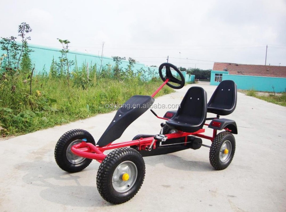 2 seat cheap adult pedal go kart with two seats / go kart car prices