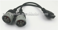 Deutsch OBD2 16PIN Female To 2 J1708 6PIN Y Adapter