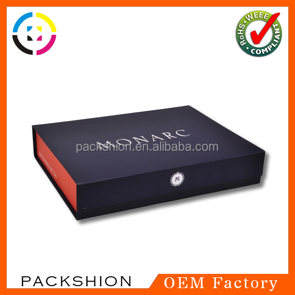 2016 Custom Paper Garment Suit Boxes with Luxury Folding Style