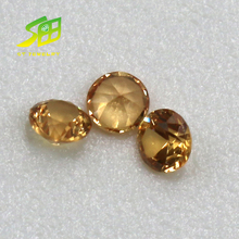 wholesales machine cut loose natural round yellow sapphire stones price