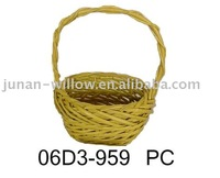 wicker flower basket